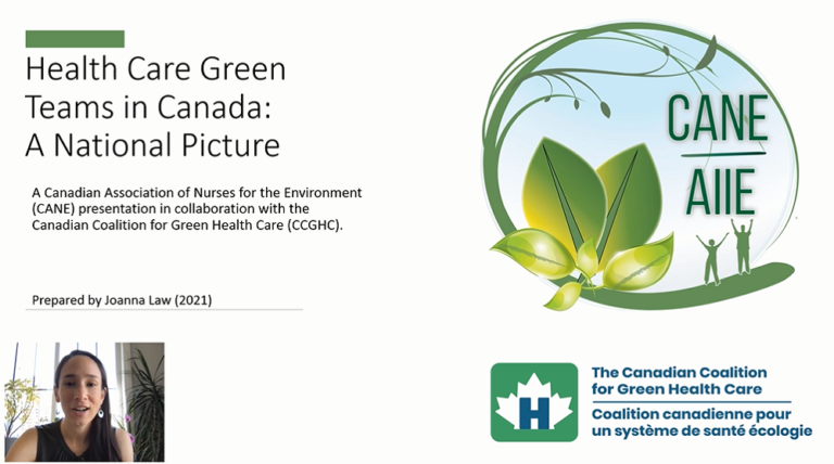 Health Care Green Teams in Canada: A National Picture